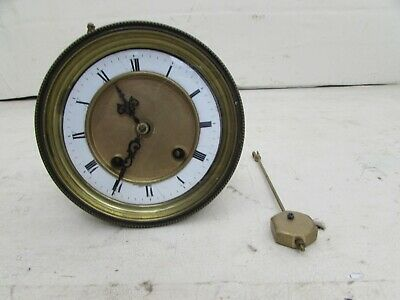 Antique Friedrich Mauthe Mantel Clock Movement With Pendulum 4.25""