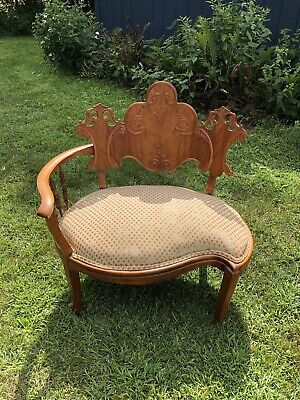 Victorian Eastlake Antique Corner Chair