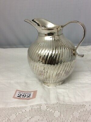 "Stunning Vintage Silver Plated Hot Water Jug  Heavy 6"" Tall"