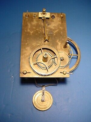 Antique Weight Driven Banjo Clock Movement, and Pulley