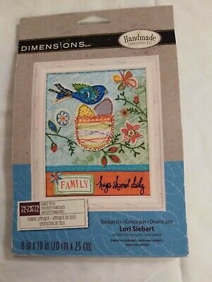 BIRD Ornament Sweet Embroidery Kit by Dimensions 72-73581 NEW