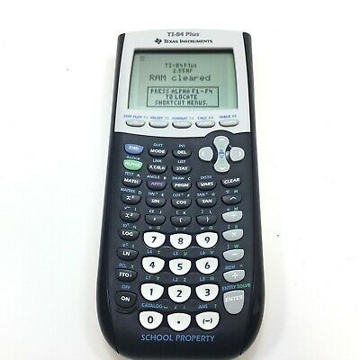 Texas Instruments TI-84 Plus Graphing Calculator w/ Slide Cover Case VERY GOOD