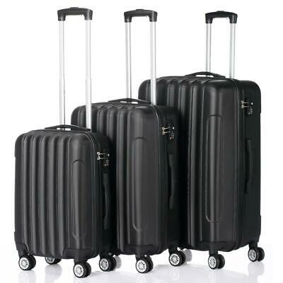 """Set Of 3 Luggage Set Travel Bag ABS Trolley Spinner Suitcase W/Lock 20"""" 24"""" 28"""""""