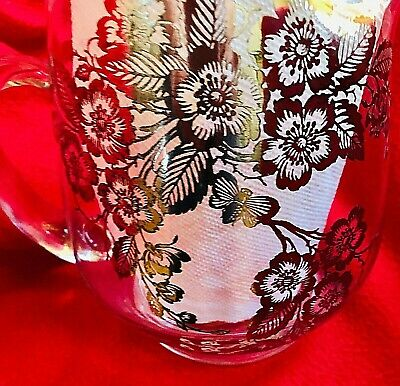 """Vintage Crystal Pitcher w/Sterling Stunning Silver Overlay Design NEW 8""""T x9""""W"""