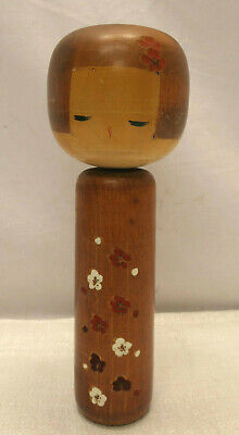 Kokeshi Creative Style Wooden Japanese Doll Vintage Blossoms #582