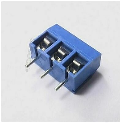 50Pcs Screw Terminal Block Connector 3Pins 5Mm Pitch KF301-3P 5.08 300V/16A pe