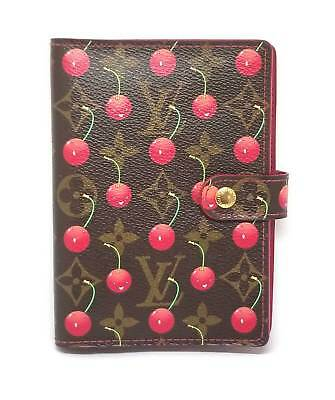 Authentic Louis Vuitton notebook cover agenda PM monogram R21023 Takashi Murakam