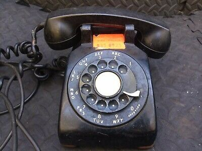 Vintage Western Electric Bell Rotary Dial 500 C/D Telephone Black UNTESTED AS IS