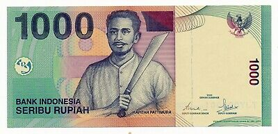 Indonesia 1000 Rupiah 2000 Serial # 000001 UNC Note RARE P. 141i