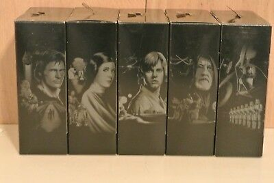 STAR WARS BLACK SERIES TITANIUM 40th ANNIVERSARY LOT OF 5, DARTH, LUKE, LEIA ETC