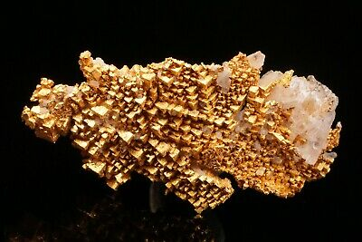 SUPERB UNIQUE Cubic Native Gold Crystal Cluster ROUND MOUNTAIN, NEVADA