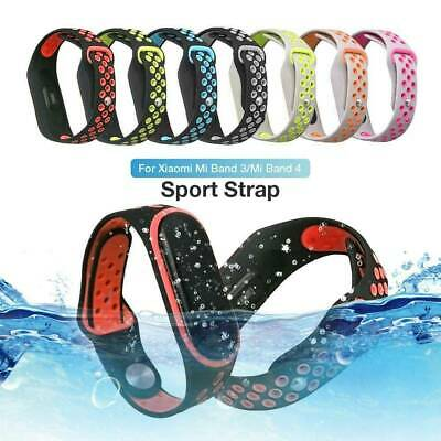 Soft Silicone Wristband Band For Xiaomi Mi Band 3 4 Strap Replacement Bracelet