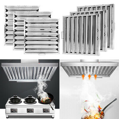 Kitchen Extraction Hood Baffle Filter Replacement Grease Filters Stainless Steel