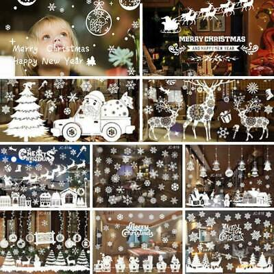 Merry Christmas Vinyl Art Home Window Store Wall Stickers Decals Decor Removable