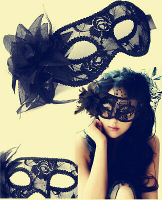Black Flower Lace Masquerade Mask for Carnival Halloween Face Ball Party Masks
