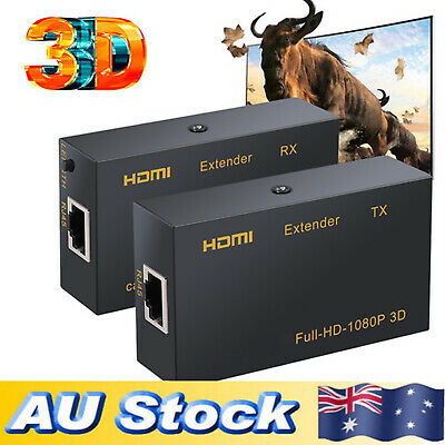 HDMI Extender Full-HD 1080P 3D Over single RJ45 cat7 Cat6 Ethernet Cable 60m