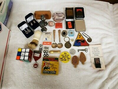 Large Junk Drawer Lot Of Vintage To New Items Estate Finds