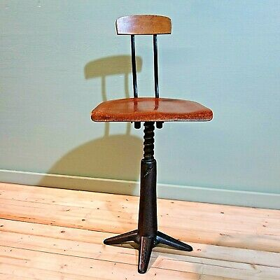 1930's Singer Factory Chair