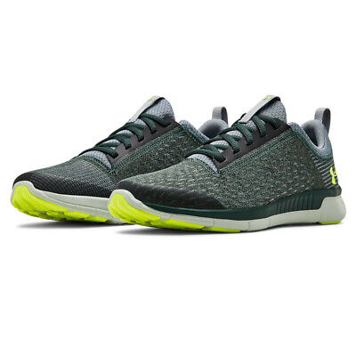 Under Armour Junior Lightning GS Running Shoes Trainers Sneakers Green Grey