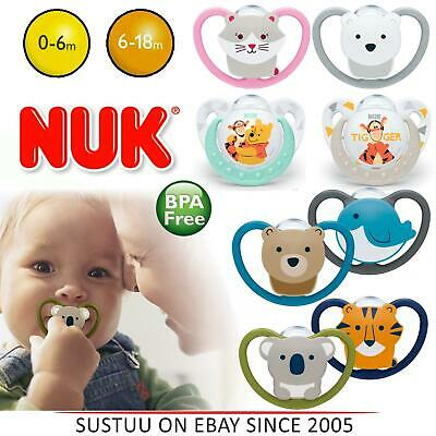NUK Winnie The Pooh Silicone Soother│BPA Free│OHF Approved│Size 1 For 0-6m│2 PK
