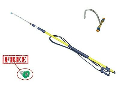 24ft Pressure Washing Telescopic Pole Extendable & Gutter Cleaning Tool