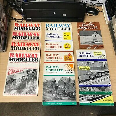 Railway Modeller Magazine: Selection of 13 Issues.