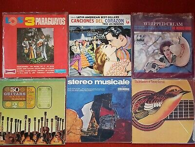 Records bulk lot LP vinyl vintage latin america mexican guitars cheesecake