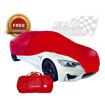 Car Cover Garage Protector Indoor Red Soft Breathable Dust Proof Small Cosmos