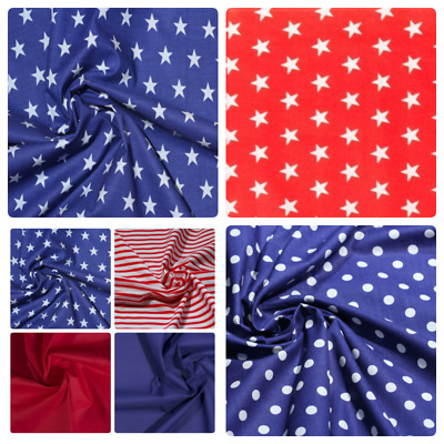"""100% Cotton Collection Fabric 64""""wide By Metre Craft Quilting"""