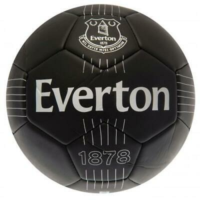 Everton Fc Black Faux Leather Football Ball Size 5 100% Official Retro Style