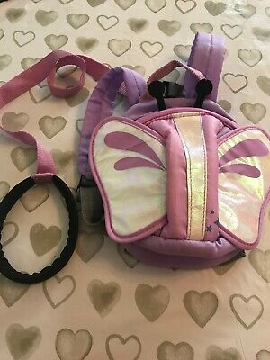 Purple Butterfly Baby/ Toddler Safey Reins/ Backpack **Hardley Used**