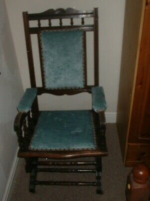 Antique Victorian Farmhouse Rocking Chair In Fine Condition Collection Only Cv6