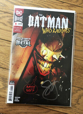 Batman Who Laughs #1 MIDTOWN SIENKIEWICZ VARIANT signed Scott Snyder COA NM