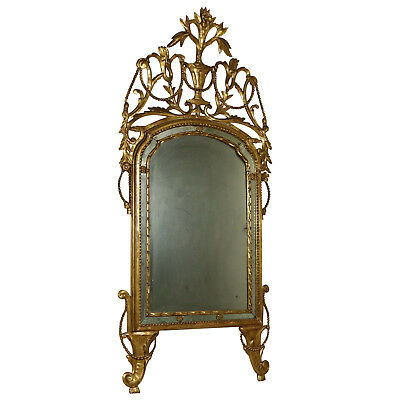 Neoclassical Mirror Gilded Wood Manufactured in Italy Last Quarter of 1700