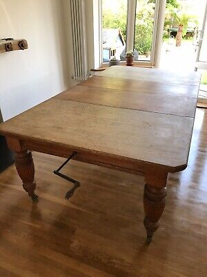 victorian oak extending table Joseph Fitter