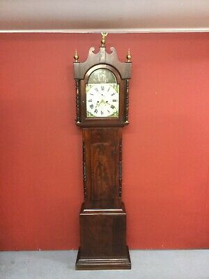Antique Mahogany 8 Day Longcase Grandfather Clock Sn-112b