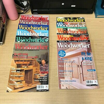 The Woodworker: Magazine: 11 Issue Set: Jan-Dec 1998: Missing May-June
