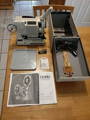 Noris Super 200 Automatic 8mm Film Projector with original case.