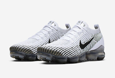 Nike Air Vapormax Flyknit 3 Men's SZ 8.5  White Black AJ6900-105 NO BOX TOP