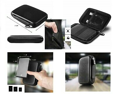Duronic HDC2 Small Black EVA Carry Case for External Portable Hard Drive - Suita
