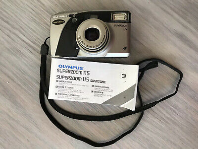 Olympus Superzoom 115 Autofocus Zoom 35mm Film Camera With Instructions/battery