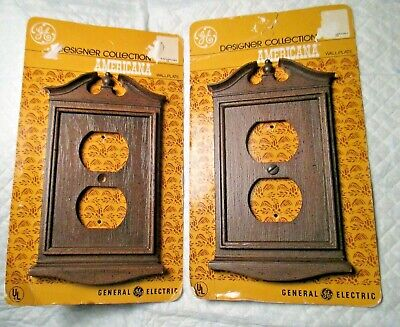 2 Vintage Designer Collection AMERICANA Colonial OUTLET COVERS wall plate UNUSED