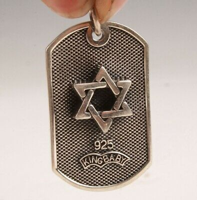 Rare Chinese 925 Silver Pendant Star Handmade Mascot Colle Old Gift