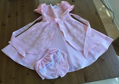 Children Co. USA Girls 2 Piece Sz 5 Pink Lined Floral Beaded Vintage Gorgeous