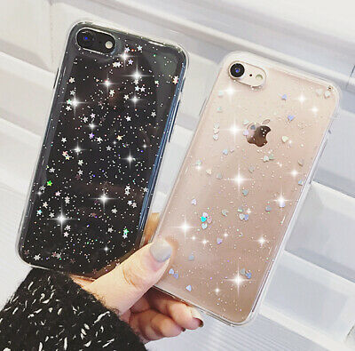 Luxury Bling Glitter Soft Shockproof Silicone Case Cover For iPhone 11 6s X 7  5