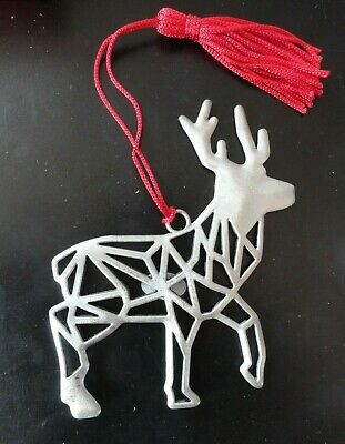 AVON  PEWTER REINDEER COLLECTIBLE ORNAMENT 2019 edition