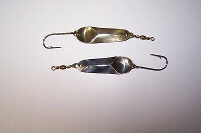 Two Skookum Fishing Spoons  Number 3's // One Nickel Plated & One Brass Plated