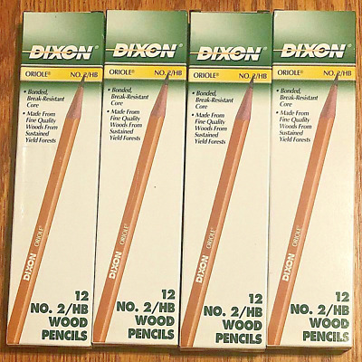 48 - Vintage Dixon Oriole Pencils 12872 No. 2 #2/HB Made in USA - 4 Boxes of 12