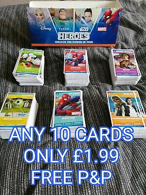 Sainsbury's Disney Marvel Heroes Trading Cards Choose Any 10 for £1.99