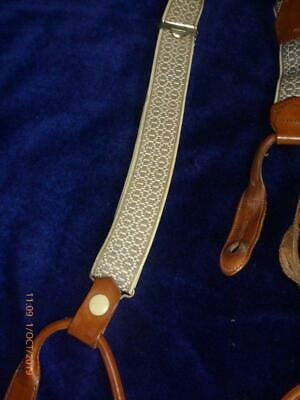 Vintage Mens Button Braces/Suspenders Leather Fastenings